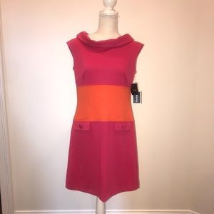 Taylor Orange/Pink Dress Size 8 New with Tags